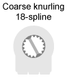 coarse knurling spline potentiometer knob