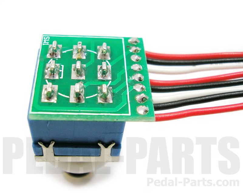Pleasing 3Pdt Footswitch With Pcb And Wires Pedal Parts Com Wiring 101 Orsalhahutechinfo