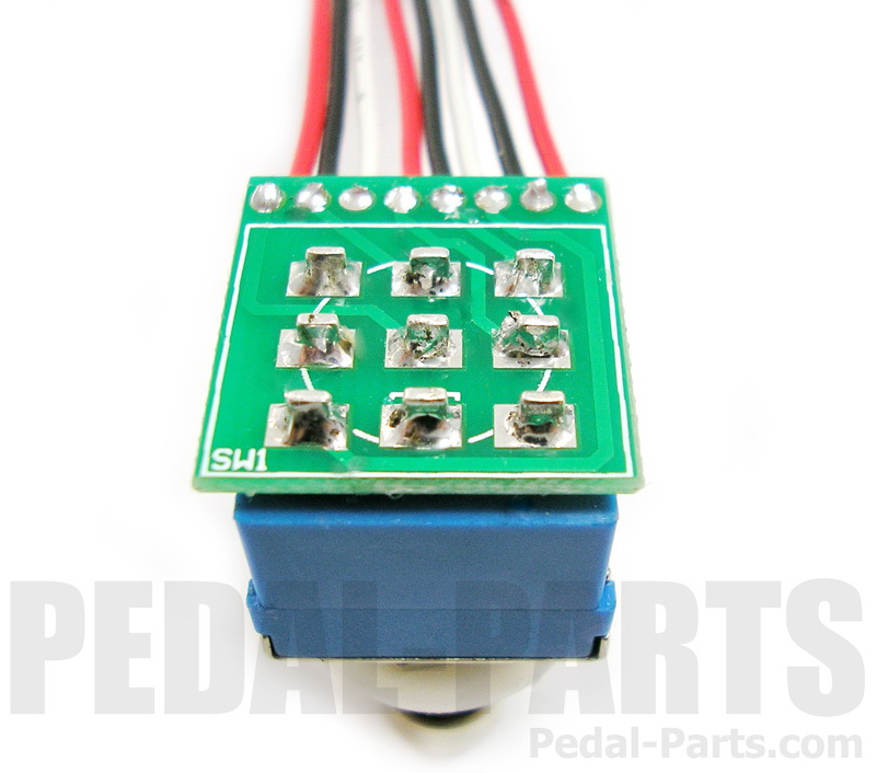 3pdt footswitch with pcb and wires pedal parts com rh pedal parts com Momentary Switch Wiring Momentary Switch Wiring