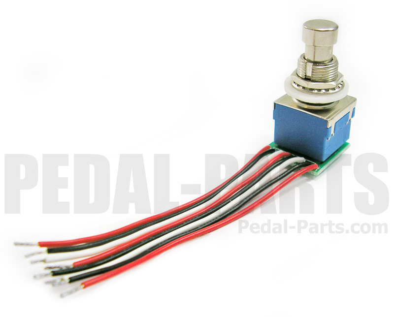3pdt footswitch with pcb and wires pedal parts com rh pedal parts com 3PDT Switch Wiring Diagram Orientation 2-Way Toggle Switch Wiring Diagram